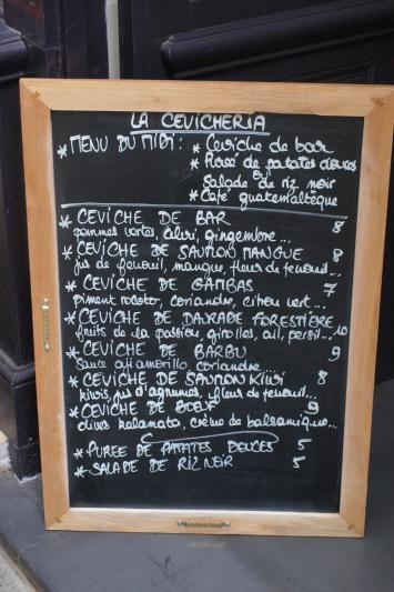poisson ceviche resto paris