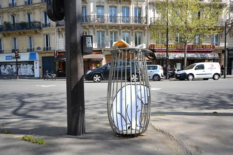 street art Paris canal de l'ourcq